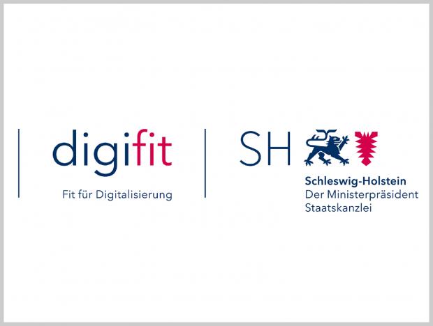 Logos digifit und Land Schleswig-Holstein